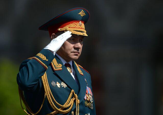El ministro de Defensa de Rusia, Serguéi Shoigú, durante del Desfil de la Victoria