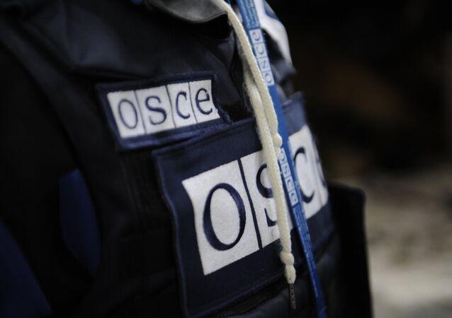 Un representante de la OSCE en Donbás (archivo)