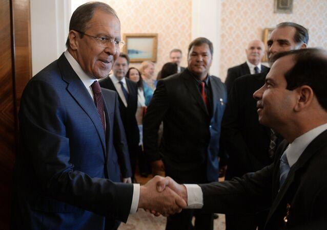 La reunión de Serguéi Lavrov, ministro de Exteriores ruso, y los Cinco Héroes cubanos