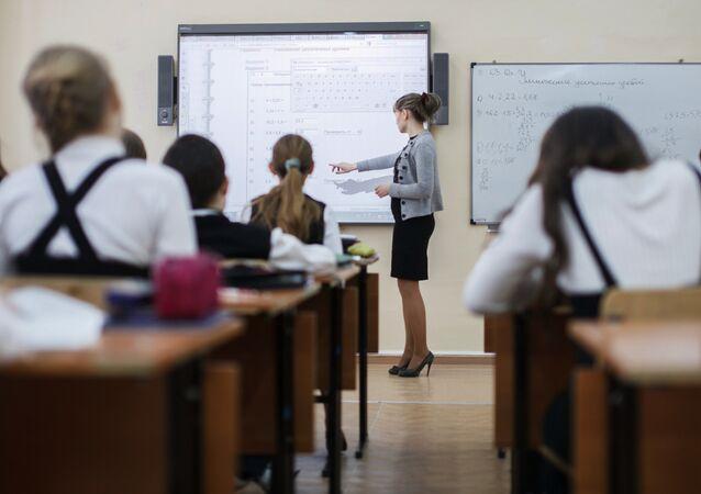 Escolares rusos