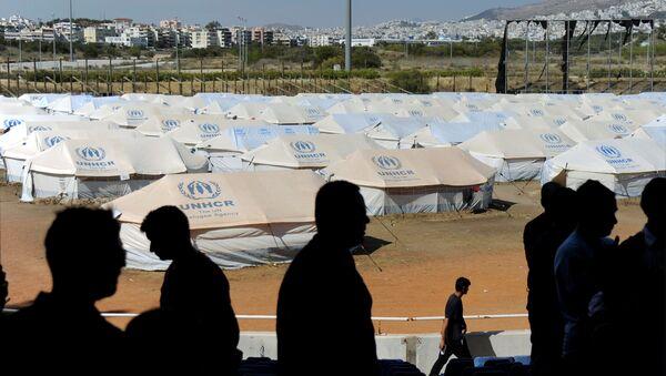 Campo de refugiados en Europa - Sputnik Mundo