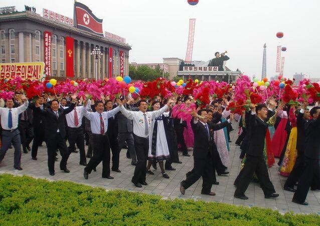 Impresionantes celebraciones en Pyongyang