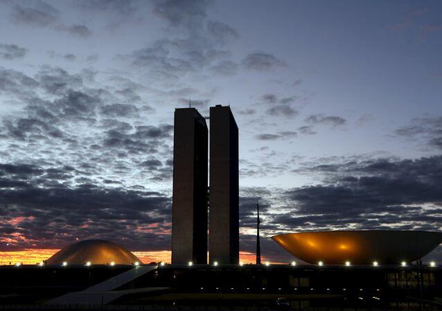 La sede del Congreso Nacional en Brasilia