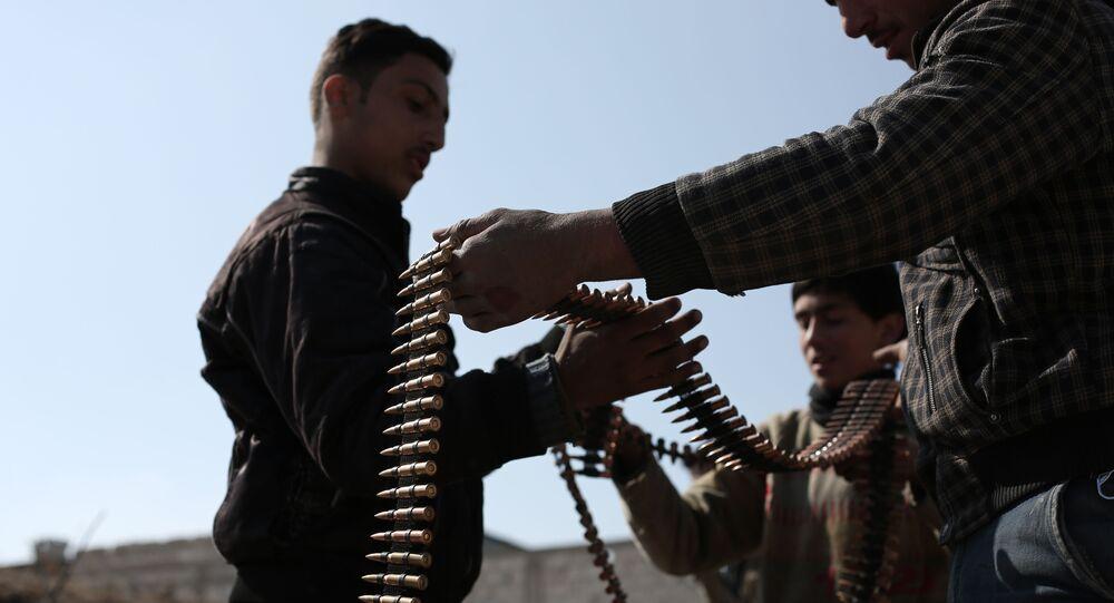 Combatientes del grupo Yeish al Islam
