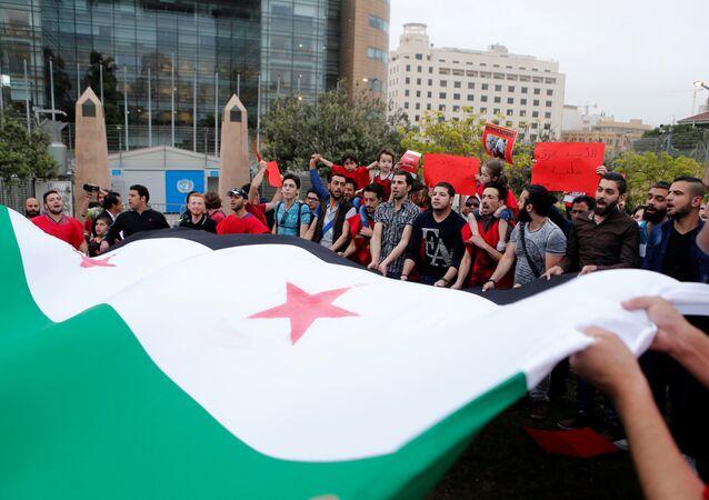 La bandera de oposición siria