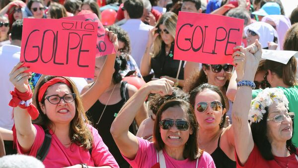 Partidarios de Dilma Rousseff - Sputnik Mundo