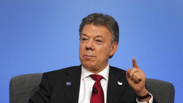 Juan Manuel Santos, presidente de Colombia (archivo) - Sputnik Mundo