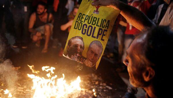 Protesta de militantes de MTST, Brasil (archivo) - Sputnik Mundo