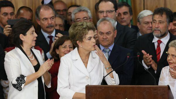 Discurso de Dilma Rousseff en el Palacio de Planalto - Sputnik Mundo