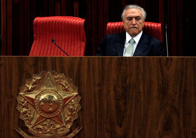 El presidente interino de Brasil, Michel Temer