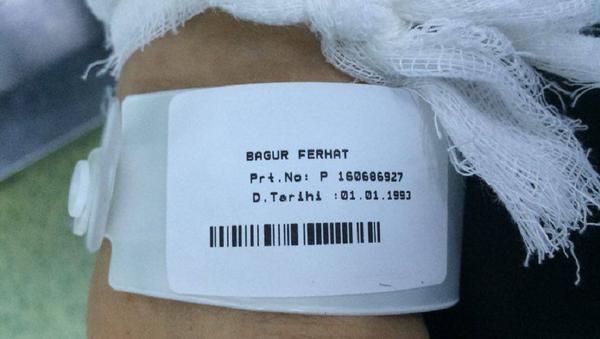 Combatiente de Daesh en el hospital turco Ersin Arslan - Sputnik Mundo