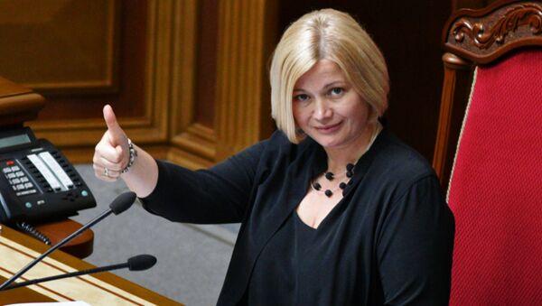 Irina Gueráschenko, la vicepresidenta de la Rada Suprema (Parlamento) de Ucrania - Sputnik Mundo