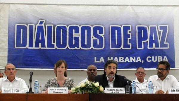 Las negociaciones entre el Gobierno de Colombia y las FARC en la Habana - Sputnik Mundo