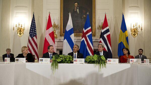Cumbre de EEUU y los países nórdicos en Washington - Sputnik Mundo