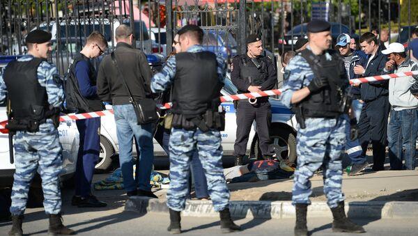 La pelea multitudinaria en el cementerio Jovánskoe en Moscú - Sputnik Mundo