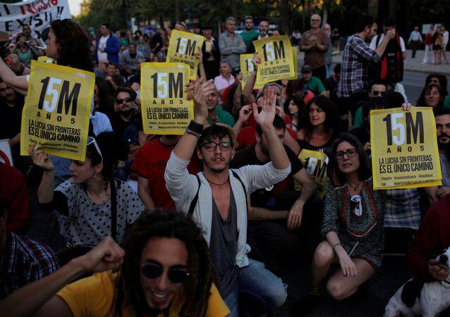 Aniversario del movimiento de los indignados en España