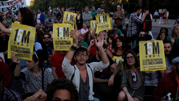 Aniversario del movimiento de los indignados en España - Sputnik Mundo