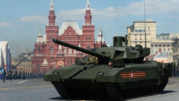 Tanque T-14 Armata en la Plaza Roja durante el desfile militar (archivo) - Sputnik Mundo