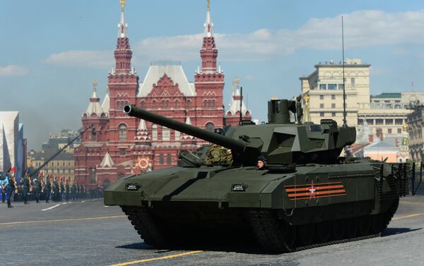 Tanque T-14 Armata en la Plaza Roja durante el desfile militar - Sputnik Mundo
