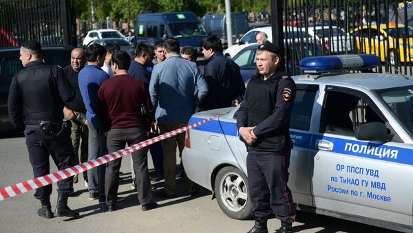 Policías junto al cementerio moscovita de Jovánskoe - Sputnik Mundo