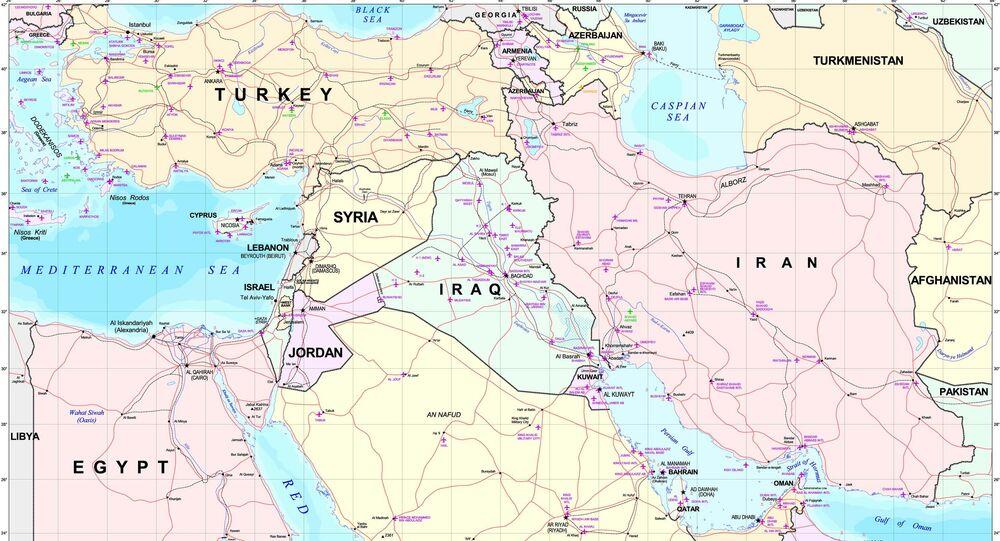 El mapa del Oriente Medio
