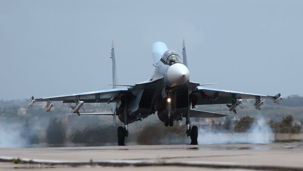 Caza ruso Su-30 en Siria - Sputnik Mundo