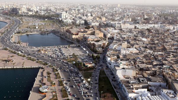 An aerial shot taken from a helicopter shows the Libyan capital Tripoli. (File) - Sputnik Mundo