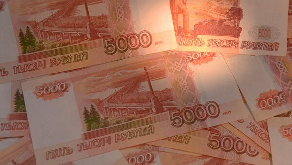 Billetes de 5000 rublos rusos - Sputnik Mundo