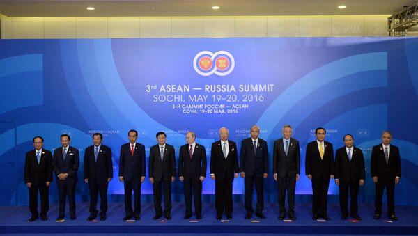 Los jefes de las delegaciones de la cumbre Rusia - ASEAN (archivo) - Sputnik Mundo