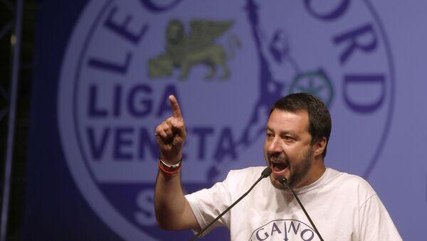 Il leader della Lega Nord Matteo Salvini - Sputnik Mundo