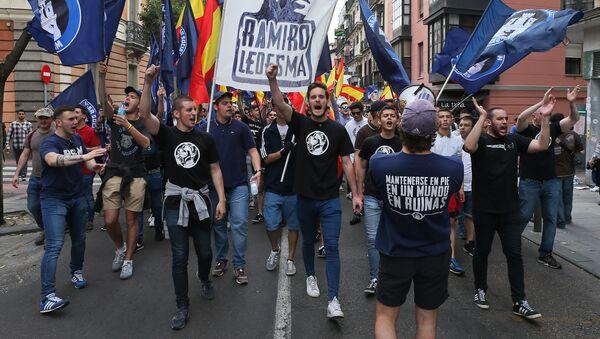 Manifestación de ultraderecha 'Hogar Social de Madrid' - Sputnik Mundo