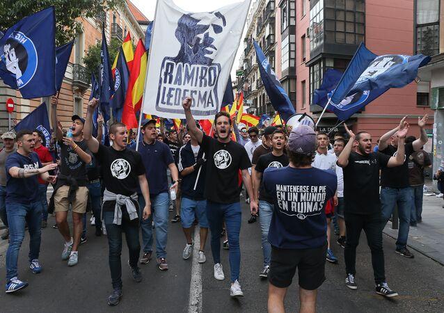 Manifestación de ultraderecha 'Hogar Social de Madrid'