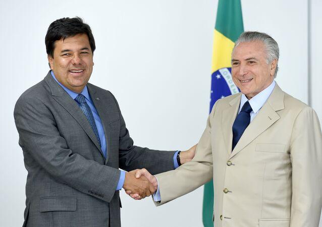 Mendonça Filho y Michel Temer