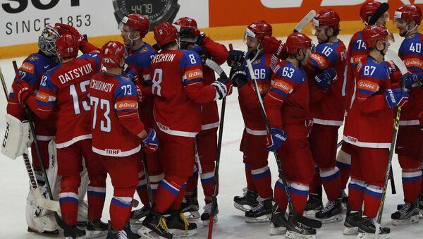 La selección rusa de hockey sobre hielo en el Mundial del 2016 - Sputnik Mundo
