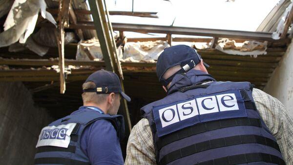 Los representantes de la OSCE en el este de Ucrania - Sputnik Mundo
