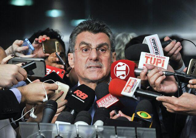 Romero Jucá, senador del Partido del Movimiento Democrático de Brasil y actual ministro de Planificación (archivo)