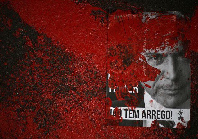 Una protesta contra Michel Temer en Brasil