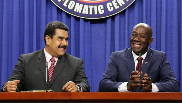 Presidente de Venezuela, Nicolás Maduro y primer ministro de Trinidad y Tobago, Keith Rowley - Sputnik Mundo