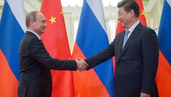 Presidente de Rusia, Vladímir Putin y presidente de China, Xi Jinping - Sputnik Mundo
