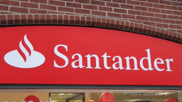 Logo del Banco Santander - Sputnik Mundo