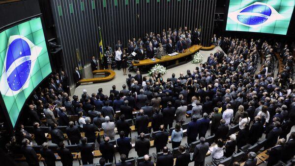 Sessão solene do Congresso Nacional para abertura dos trabalhos legislativos do segundo ano da 55ª Legislatura - Sputnik Mundo