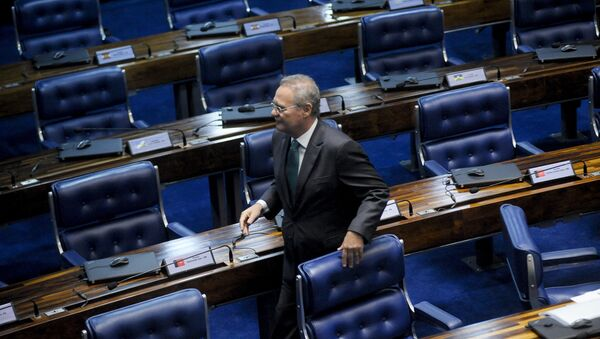 Renan Calheiros, el presidente do Senado de Brasil - Sputnik Mundo
