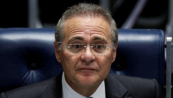 Renan Calheiros, el presidente del Senado de Brasil - Sputnik Mundo