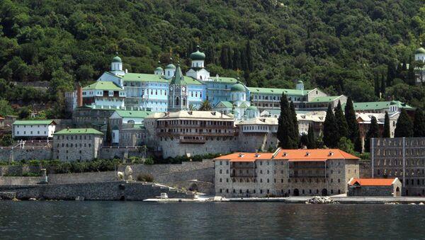 Monasterio ruso de San Pantaleón, el Monte Athos - Sputnik Mundo