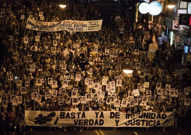 Marcha del Silencio en Montevideo, Uruguay (Archivo)