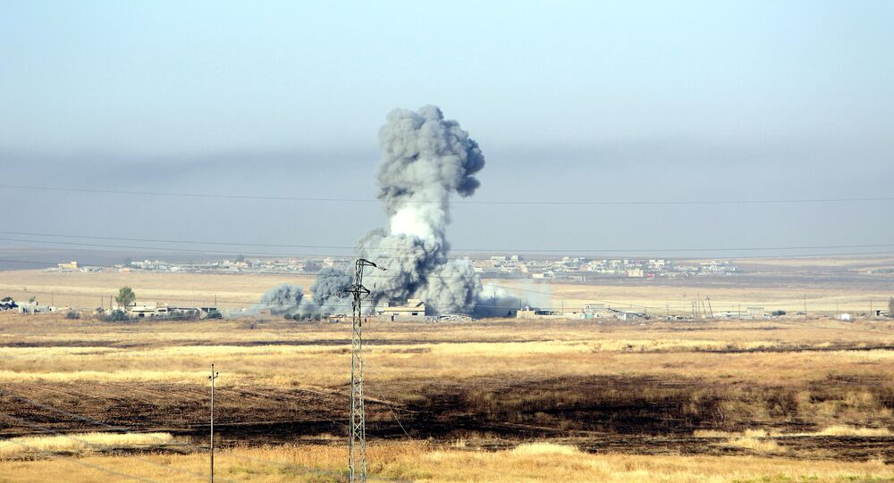 Los bombardeos de la coalición liderada por EEUU cerca de Mosul (archivo)