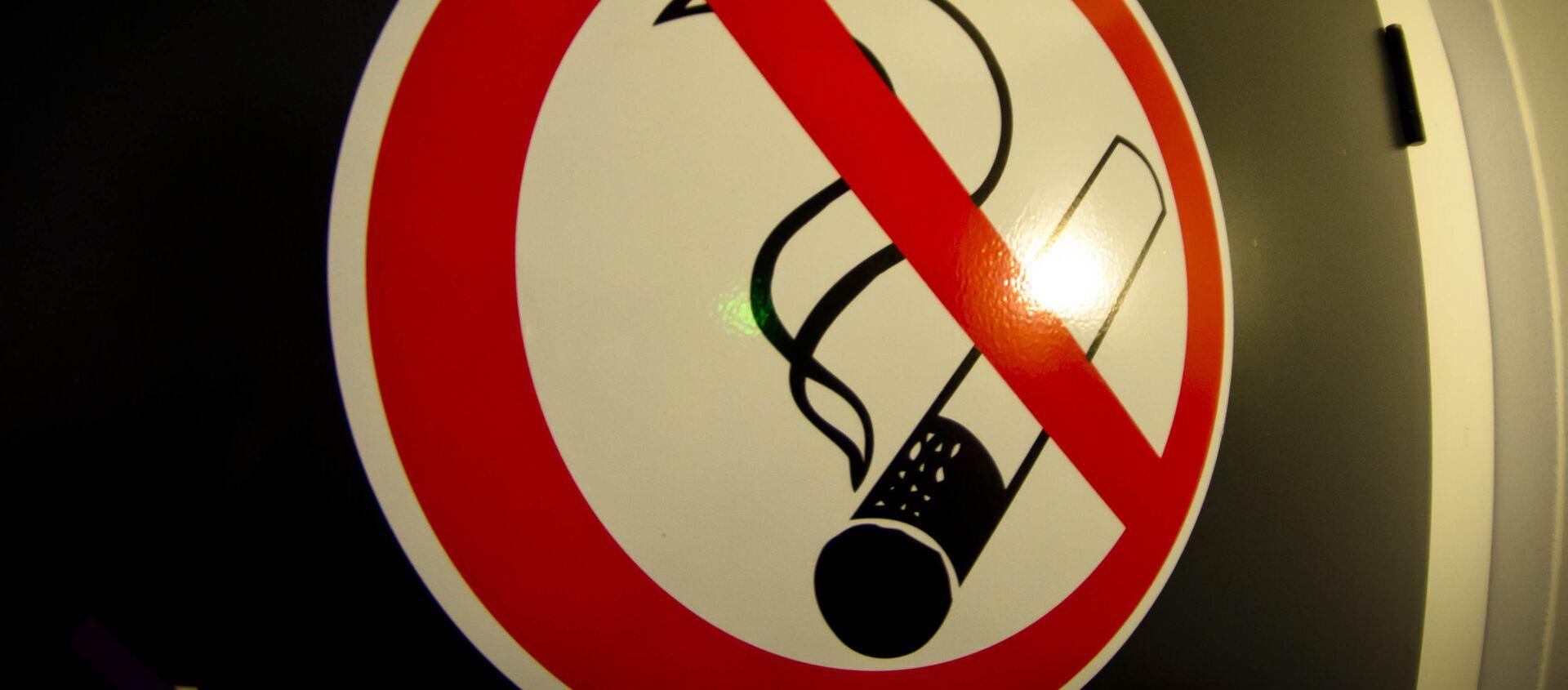 Un señal de No fumar  - Sputnik Mundo, 1920, 28.08.2020