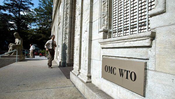 La sede de la OMC en Ginebra, Suiza - Sputnik Mundo