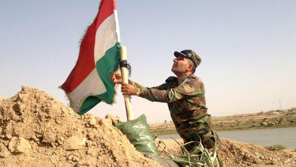 Kurdos Peshmerga Irak Bandera - Sputnik Mundo