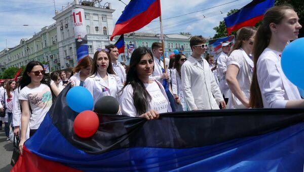 La celebración del Día de la República en Donetsk - Sputnik Mundo